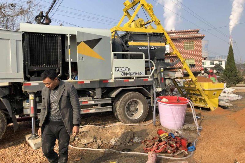 三民重科搅拌天泵助力江西新农村建设