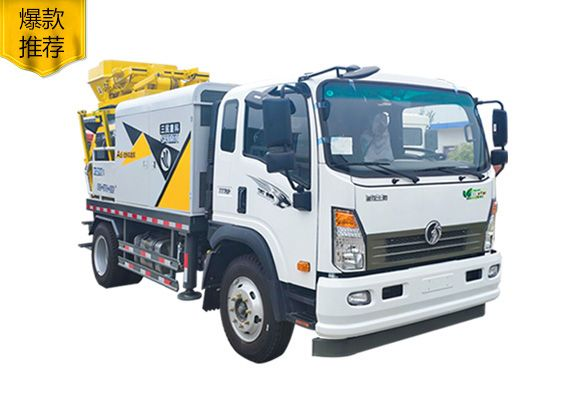 小型混凝土泵车-搅拌车载泵
