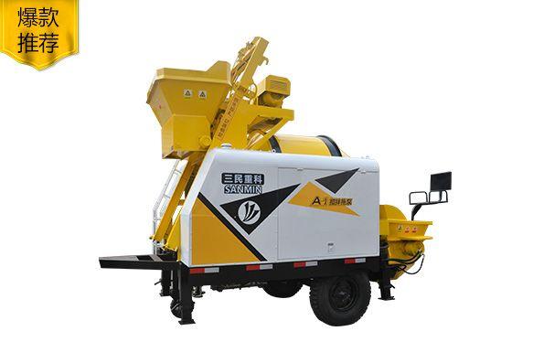 小型泵车:滚筒式搅拌拖泵