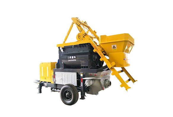 小型泵车:强制式搅拌拖泵